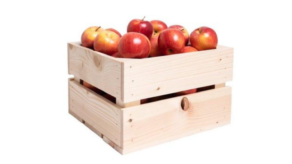 Bedrukt fruit houten kist